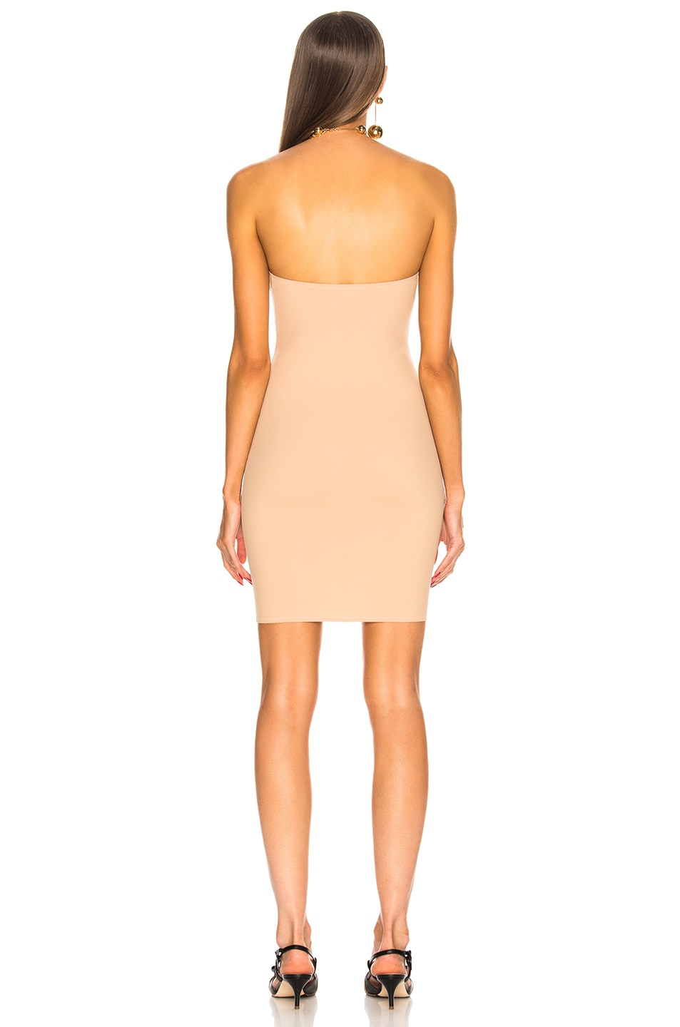 Image 4 of fleur du mal for FWRD Strapless Bodycon Slip in Nude