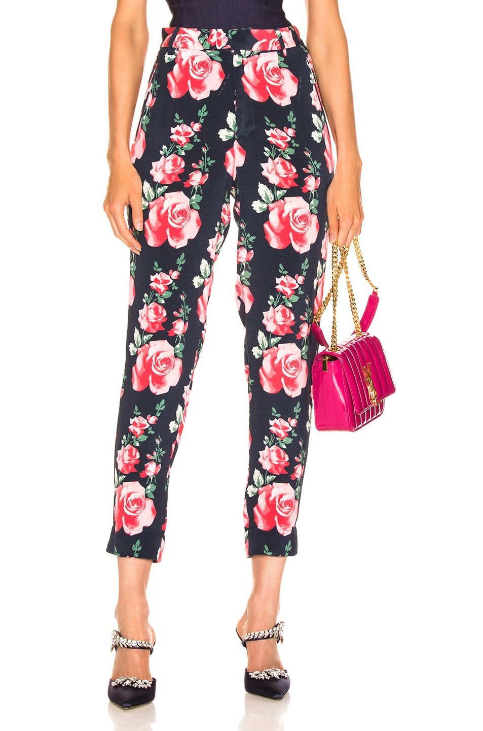 Image 1 of fleur du mal Tapered Pant in Vintage Rose