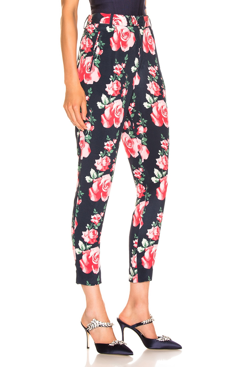 Image 2 of fleur du mal Tapered Pant in Vintage Rose