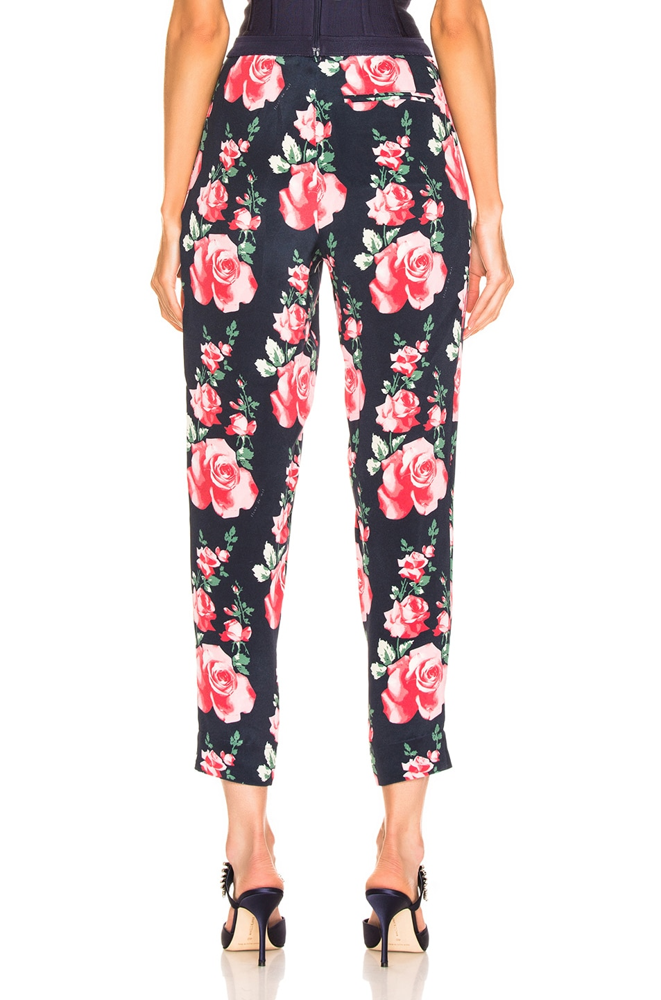 Image 3 of fleur du mal Tapered Pant in Vintage Rose