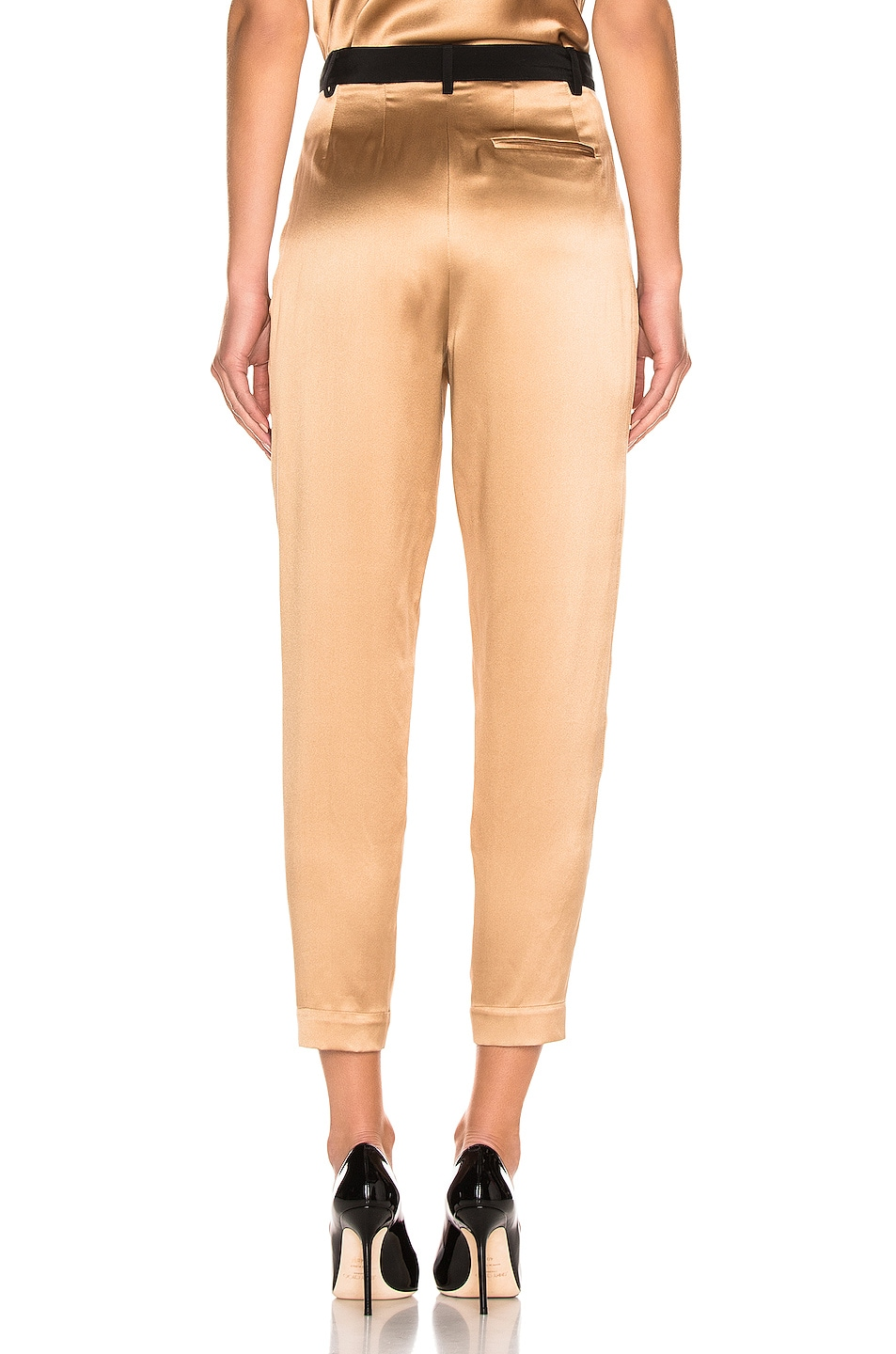 Image 3 of fleur du mal Black Waistband Tapered Pant in Moonstone