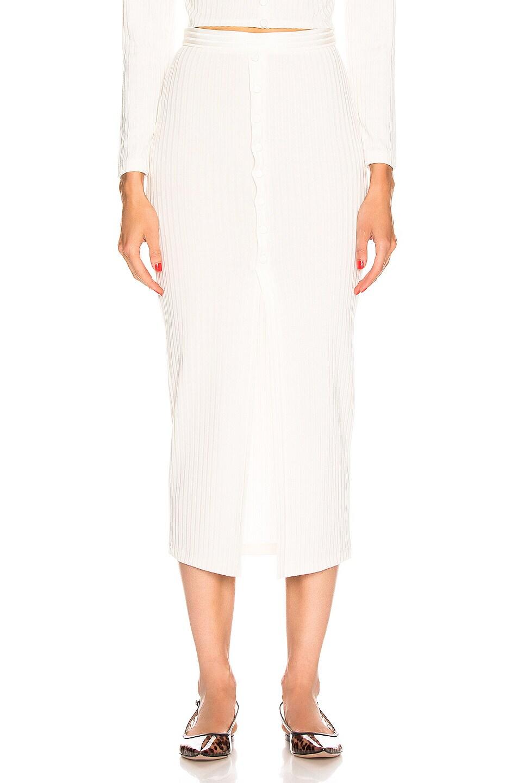 Image 1 of fleur du mal Maxi Slit Skirt in Ivory