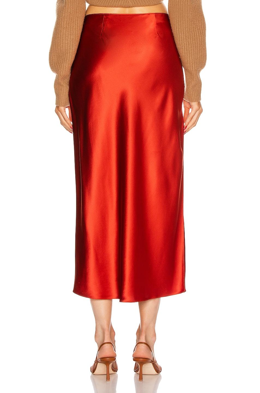 Image 4 of fleur du mal Slip Skirt in Sienna