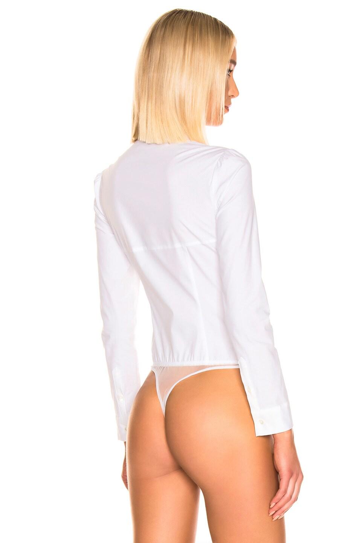 Image 4 of fleur du mal Bella Bodysuit in Ivory