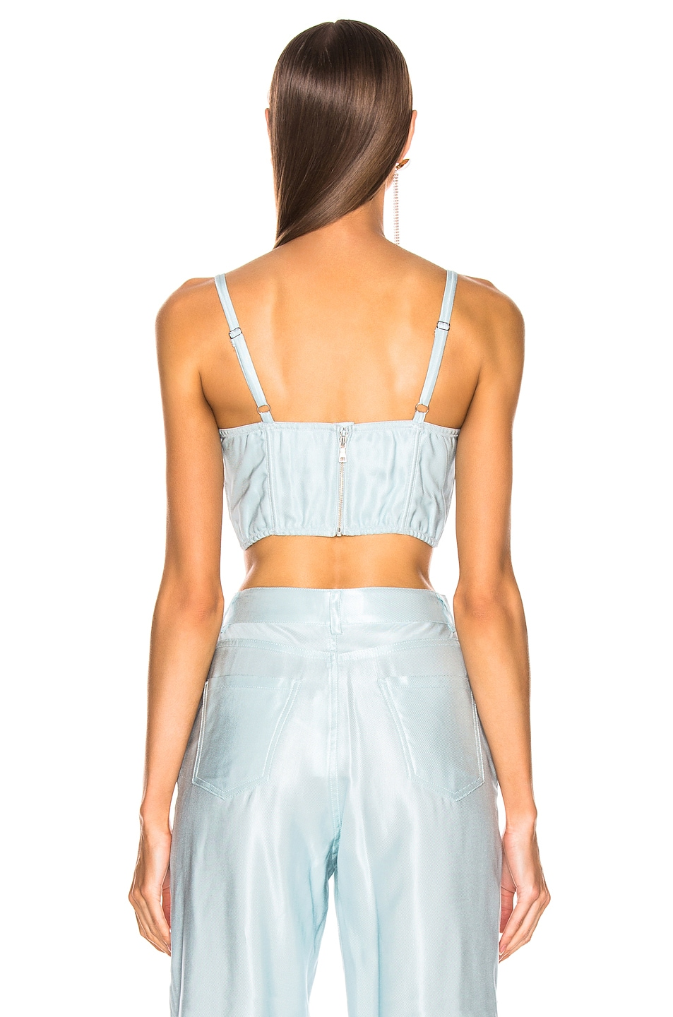 Image 3 of fleur du mal Twill Bustier Top in Whisper Mint