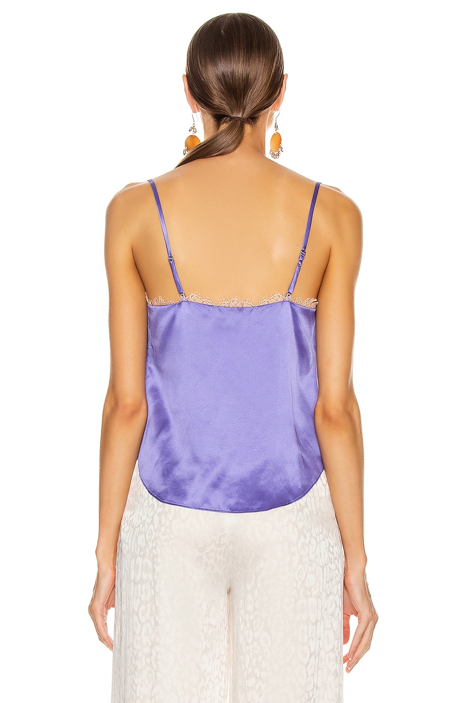 Image 3 of fleur du mal Straight Neck Cami in Amethyst