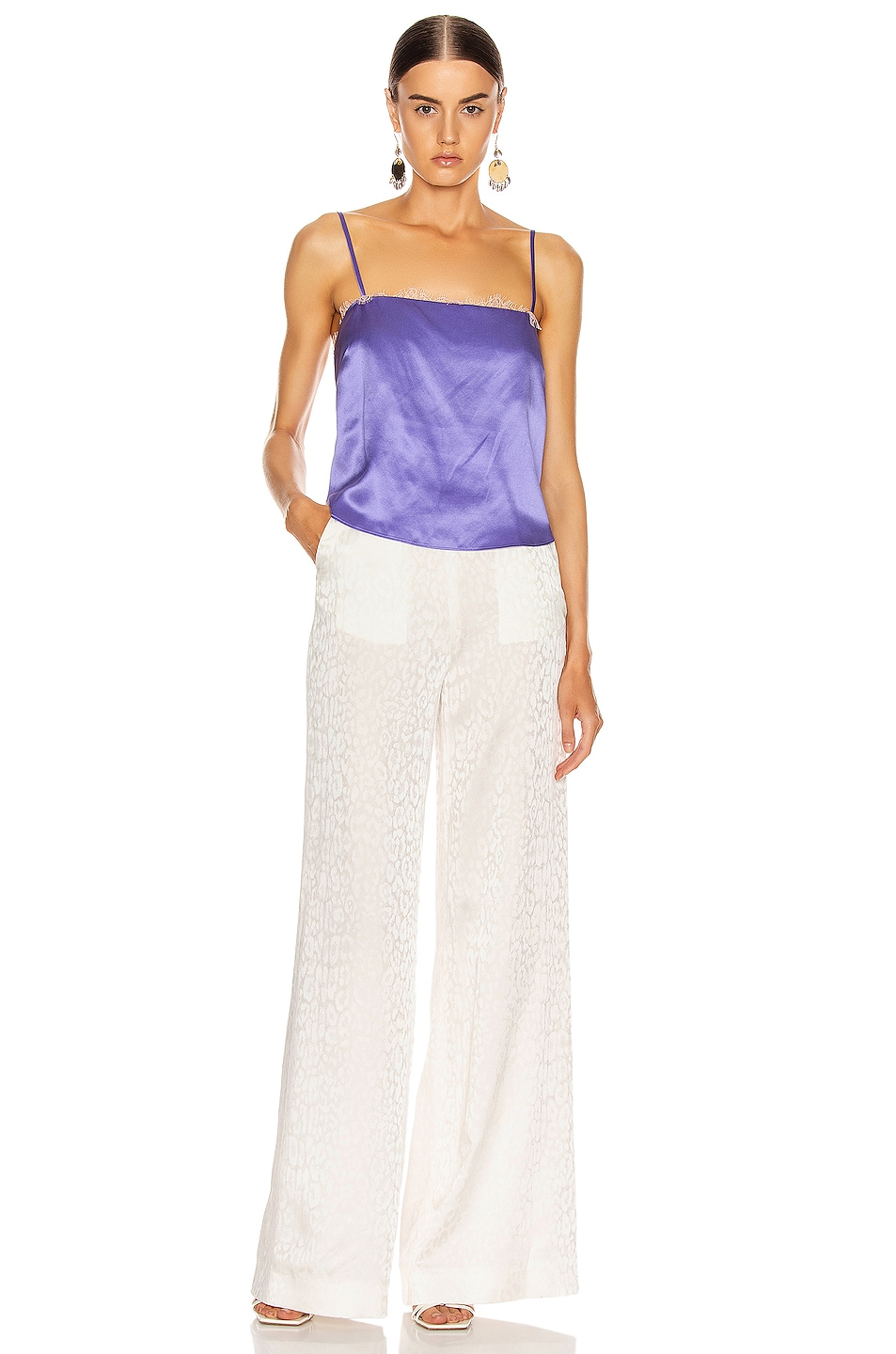Image 4 of fleur du mal Straight Neck Cami in Amethyst