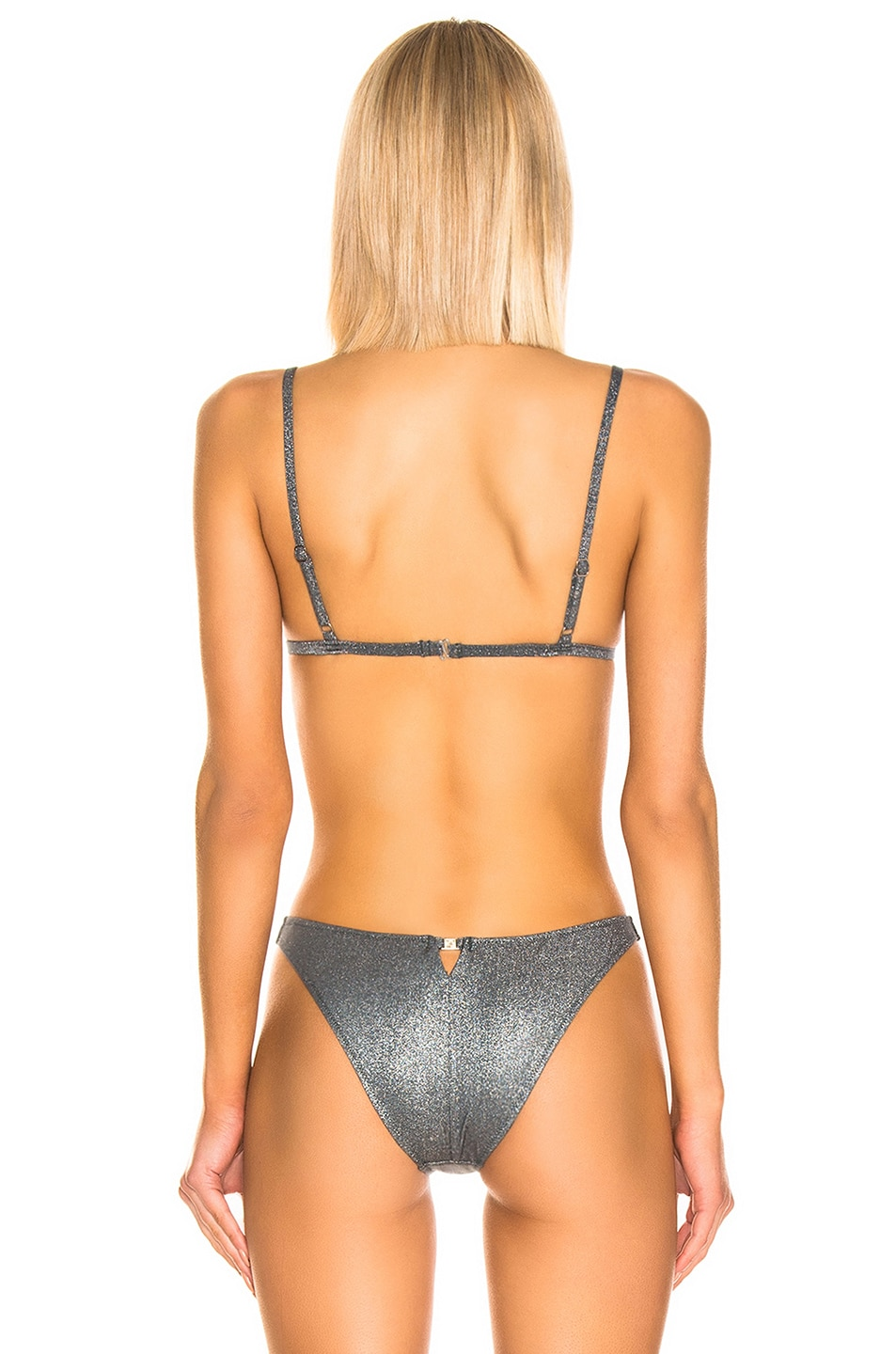 Image 3 of fleur du mal Built Up Triangle Top in Disco Grey