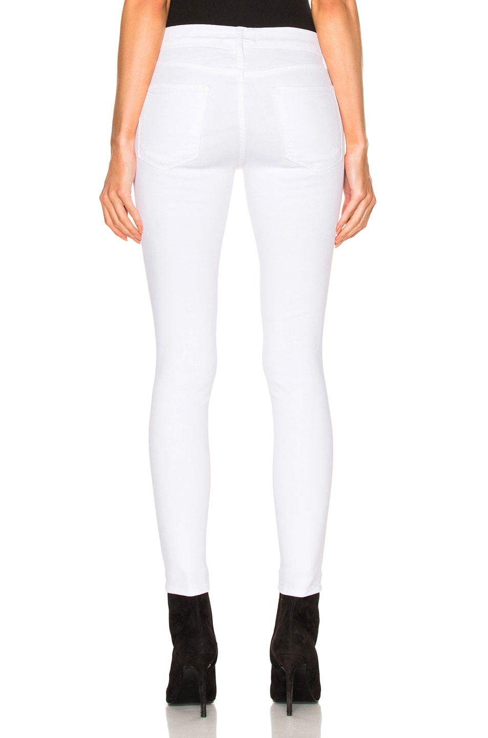 Image 4 of FRAME Denim Le Color Rip in Blanc