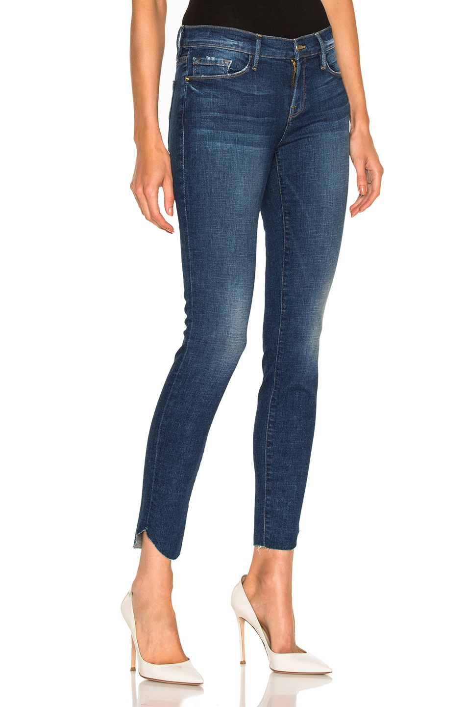 Image 1 of FRAME Denim Le Skinny De Jeanne Tulip Hem in York