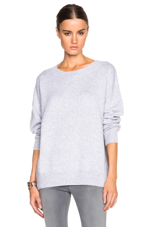 FRAME Denim Cashmere Le Boyfriend Sweater in Gris | FWRD