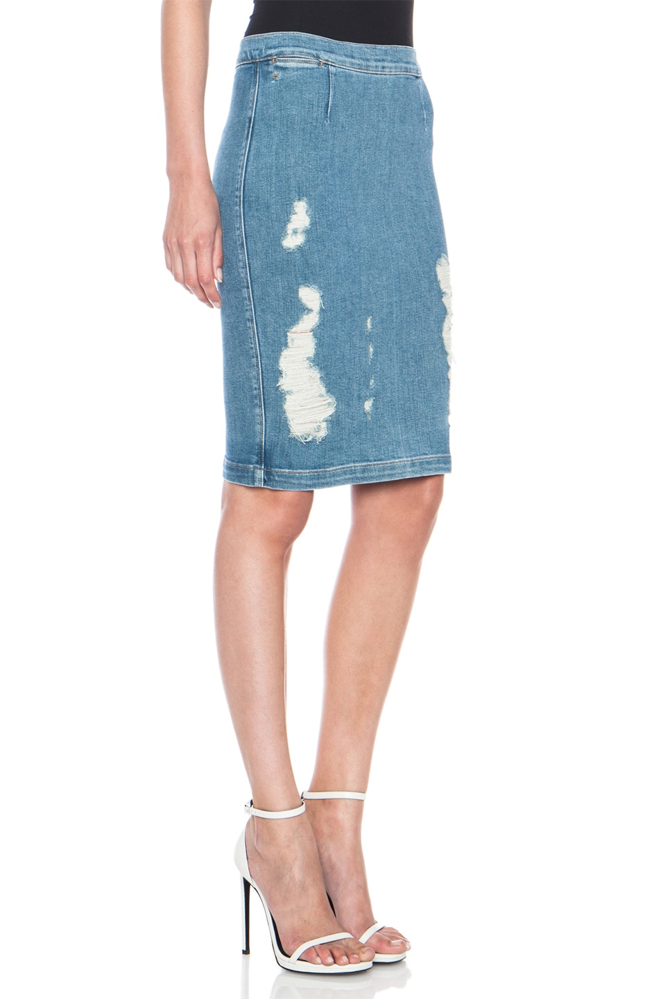 Image 3 of FRAME Denim Le High Pencil Cotton-Blend Skirt in Carlyle