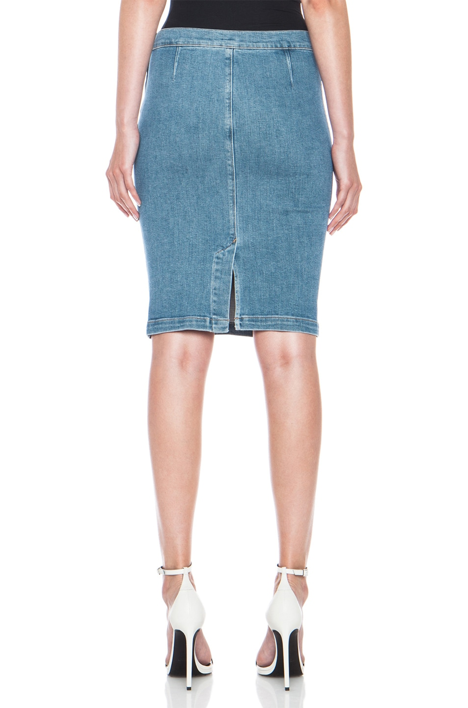 Image 4 of FRAME Denim Le High Pencil Cotton-Blend Skirt in Carlyle