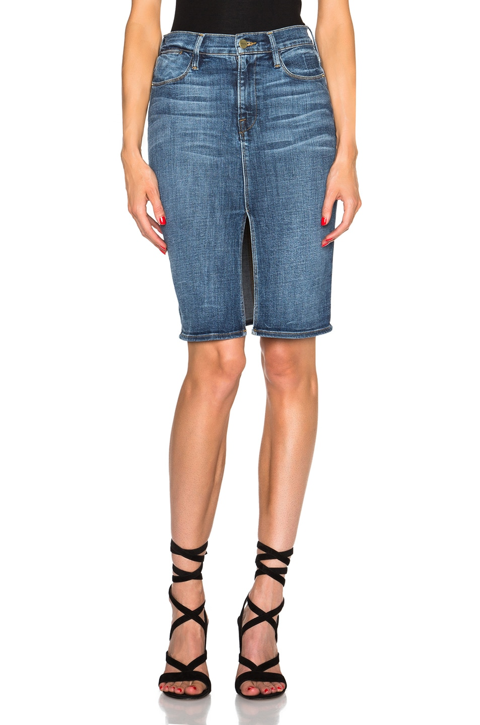 Image 1 of FRAME Denim Le Pencil Skirt in Weir