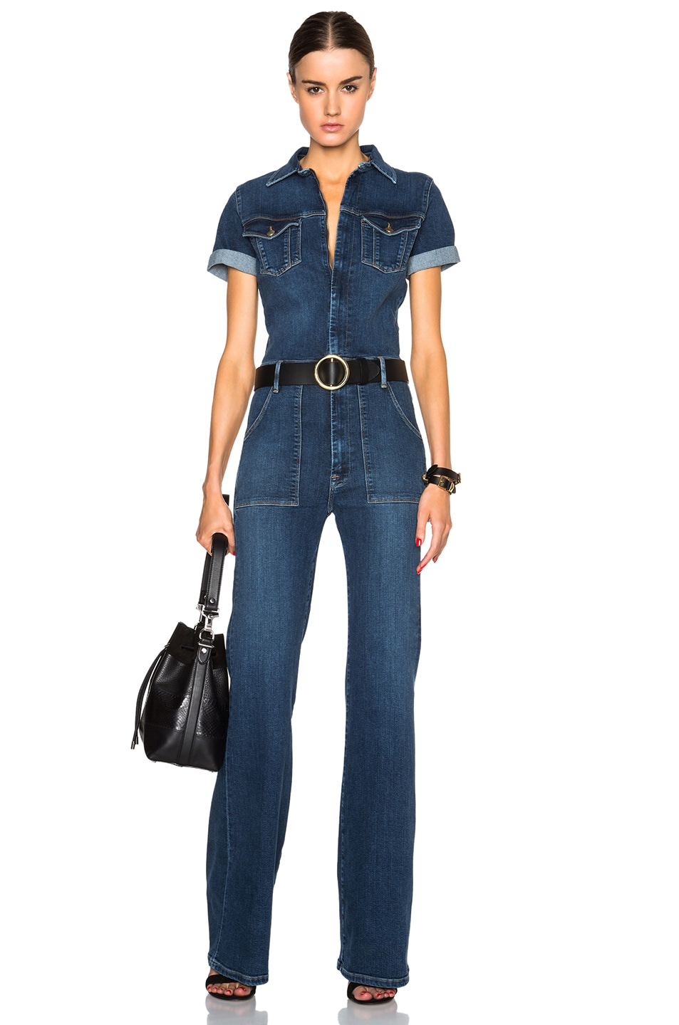 Image 1 of FRAME Denim Le Flare De Francoise Jumpsuit in Lamarr