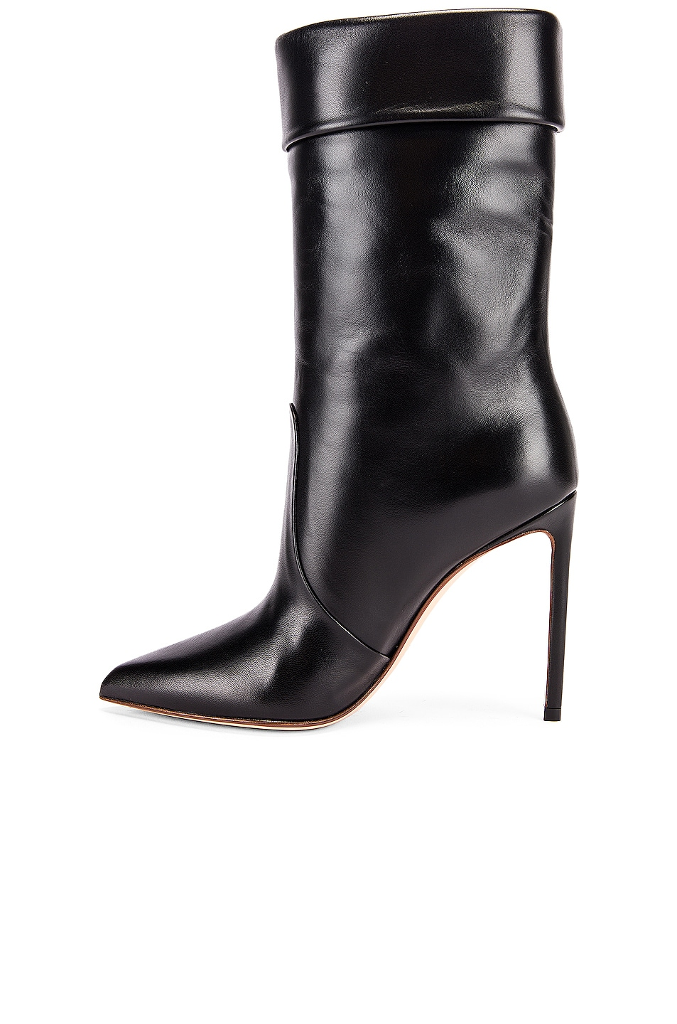 Image 5 of FRANCESCO RUSSO Leather Booties in Black