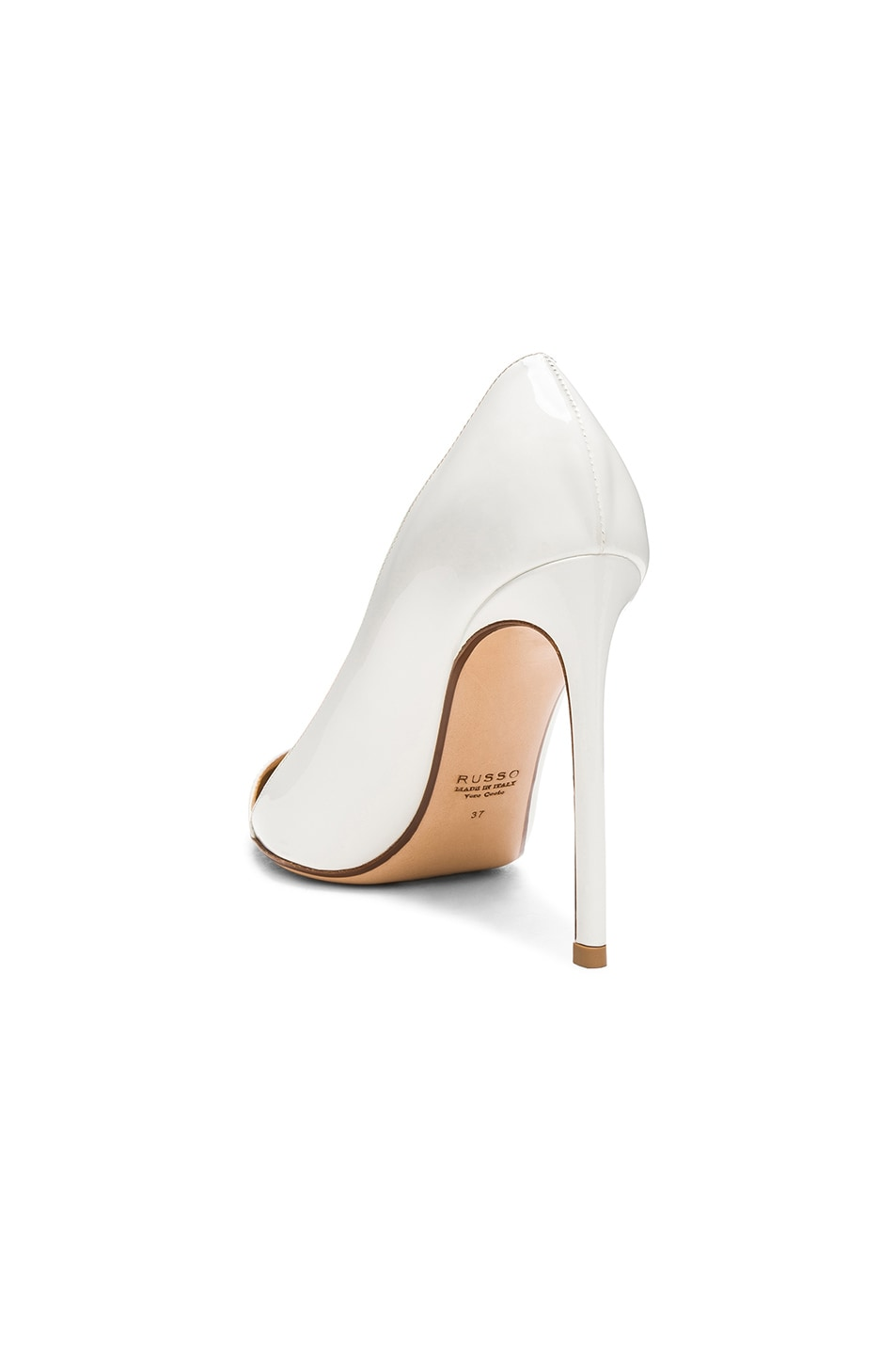 Image 3 of FRANCESCO RUSSO Pointed Toe Heels in White