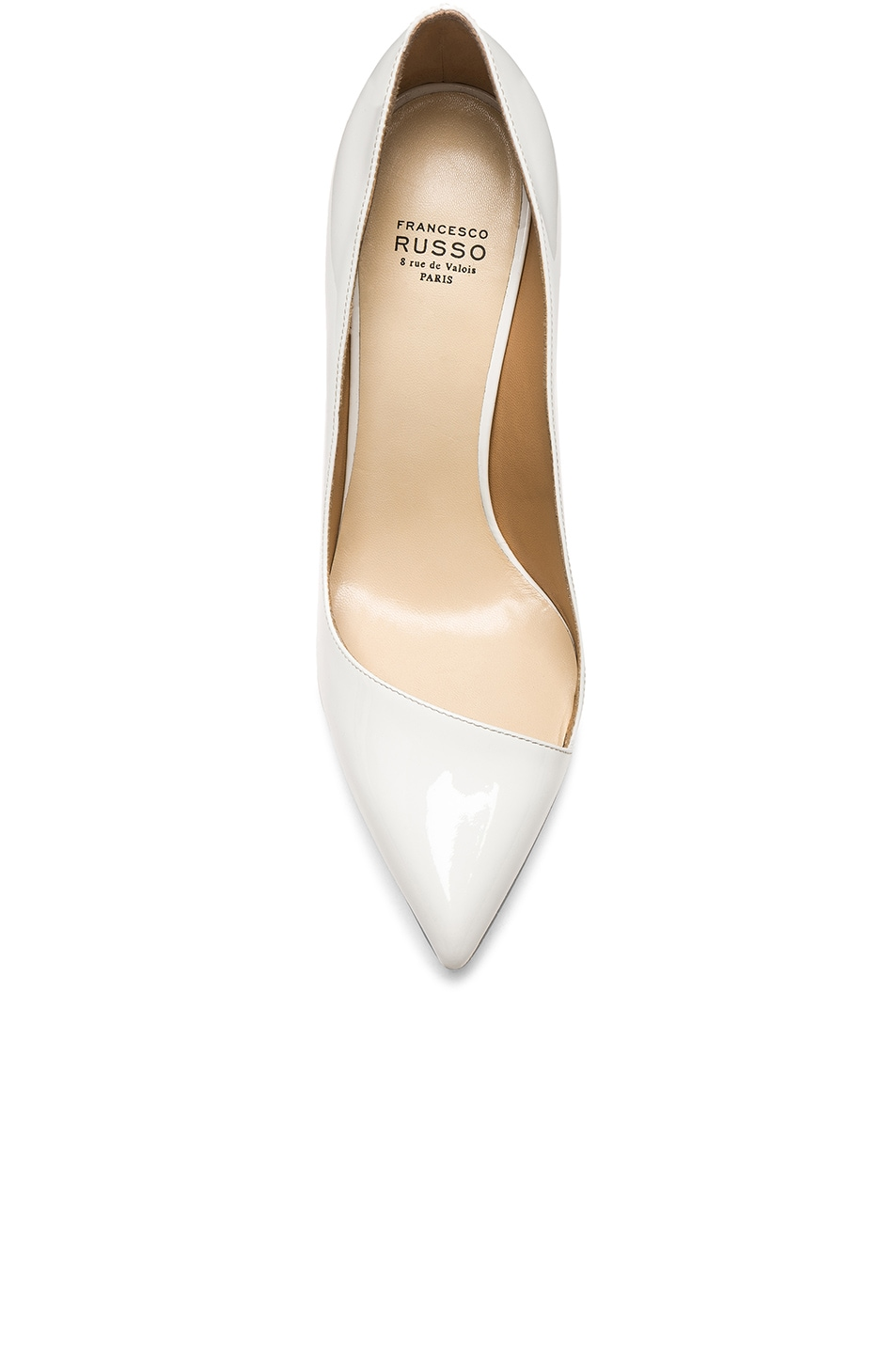 Image 4 of FRANCESCO RUSSO Pointed Toe Heels in White
