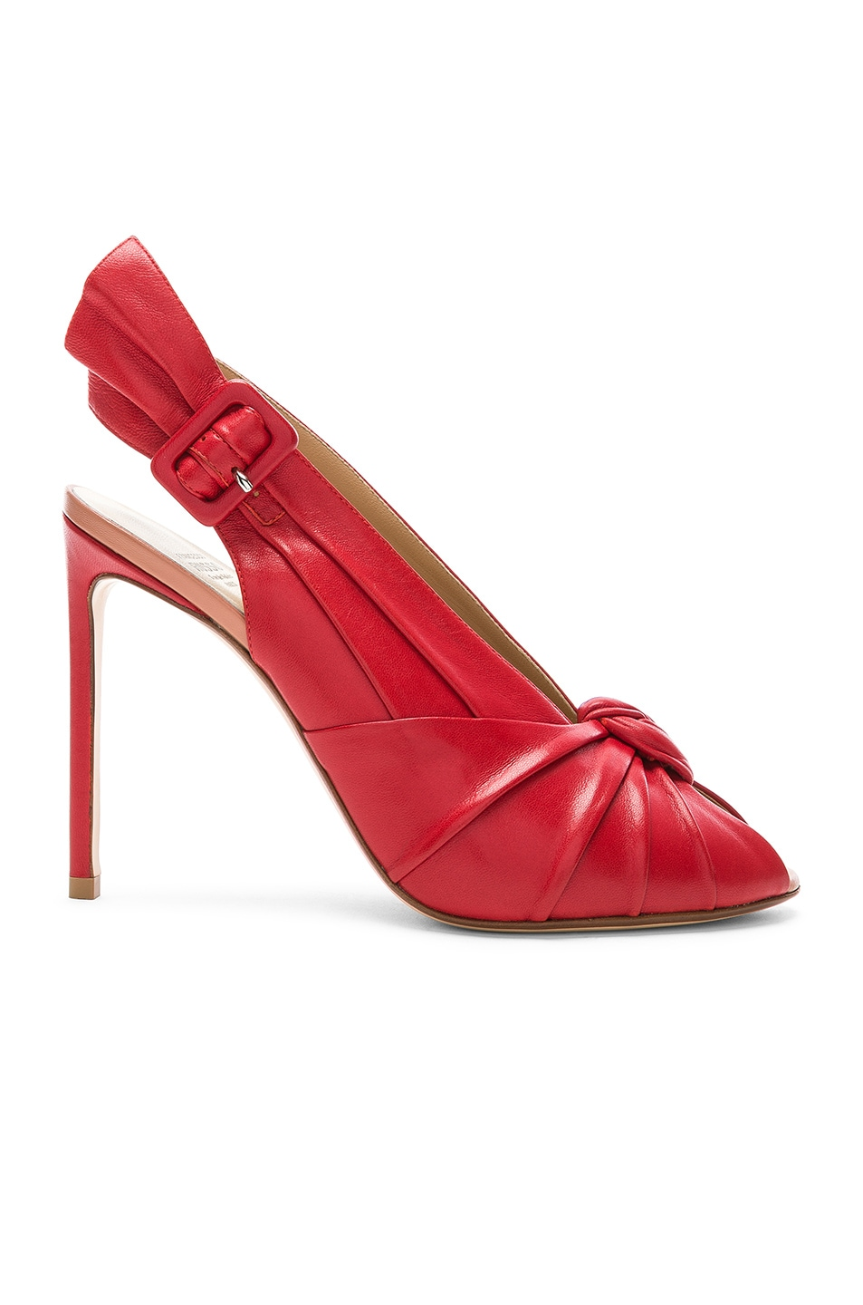 Image 1 of FRANCESCO RUSSO Slingback Heels in Red