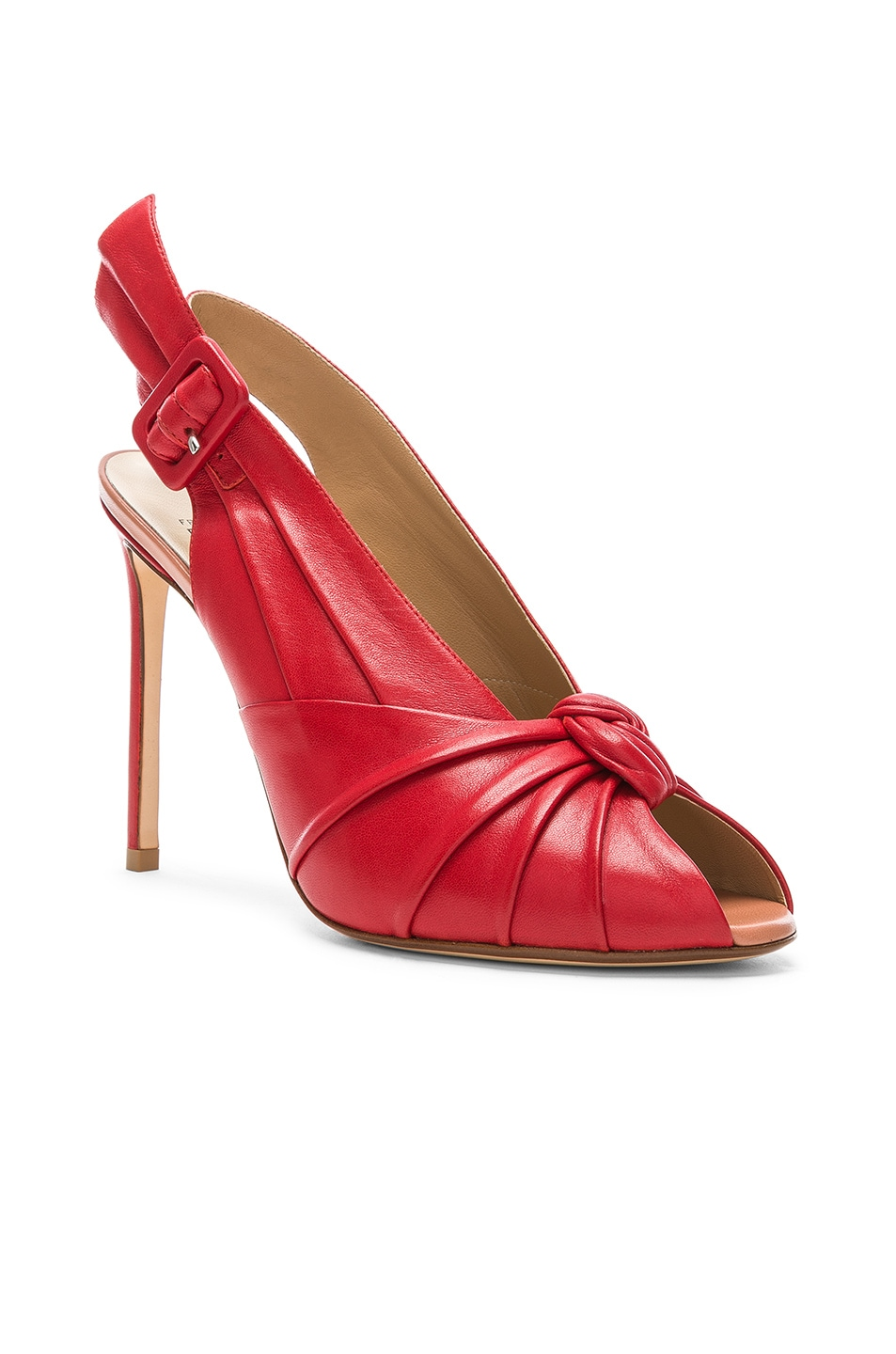 Image 2 of FRANCESCO RUSSO Slingback Heels in Red