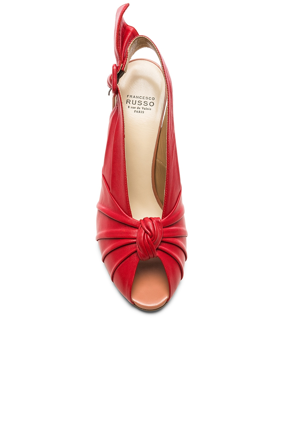 Image 4 of FRANCESCO RUSSO Slingback Heels in Red