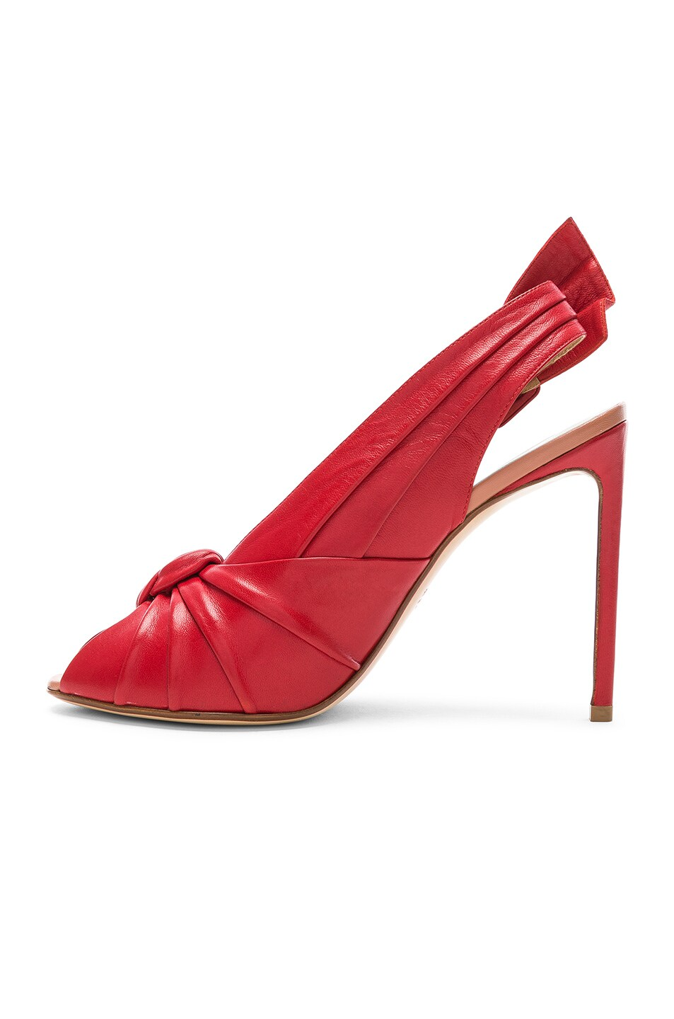 Image 5 of FRANCESCO RUSSO Slingback Heels in Red