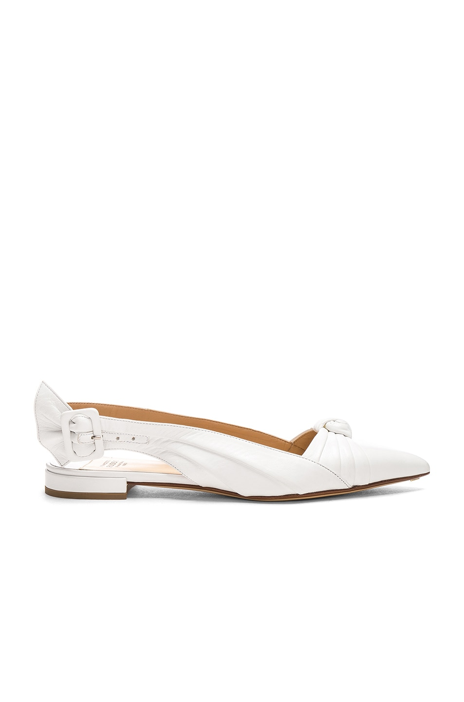 Image 1 of FRANCESCO RUSSO Slingback Flats in White