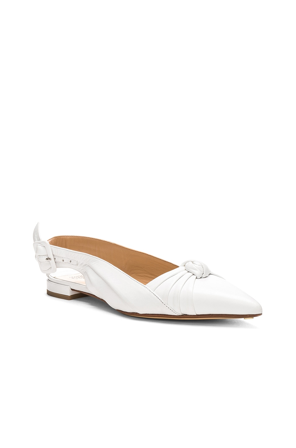 Image 2 of FRANCESCO RUSSO Slingback Flats in White