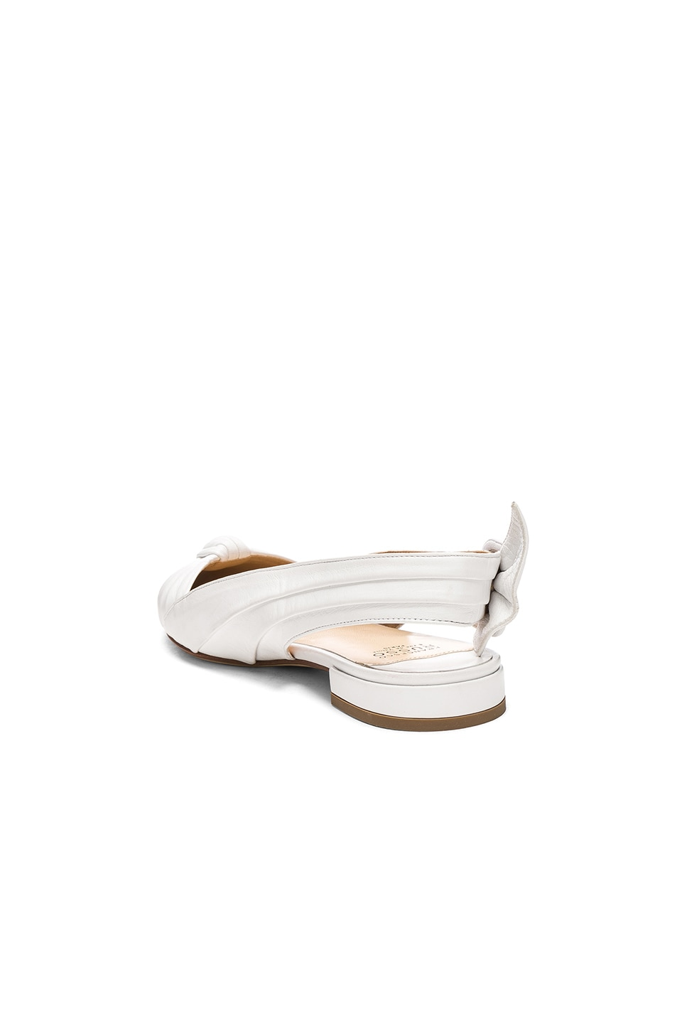 Image 3 of FRANCESCO RUSSO Slingback Flats in White