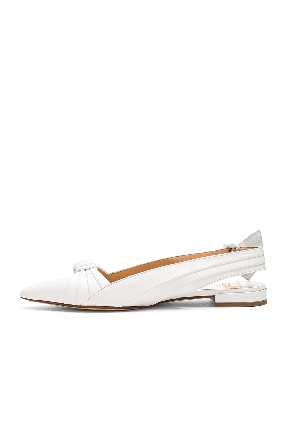 Image 5 of FRANCESCO RUSSO Slingback Flats in White