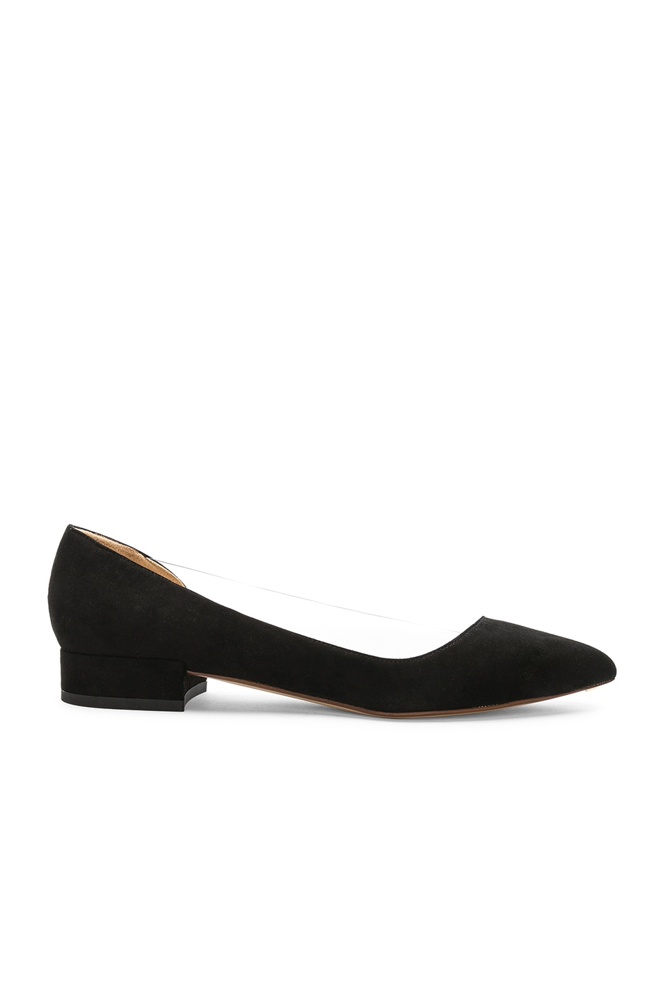 Image 1 of FRANCESCO RUSSO Suede & PVC Flats in Black