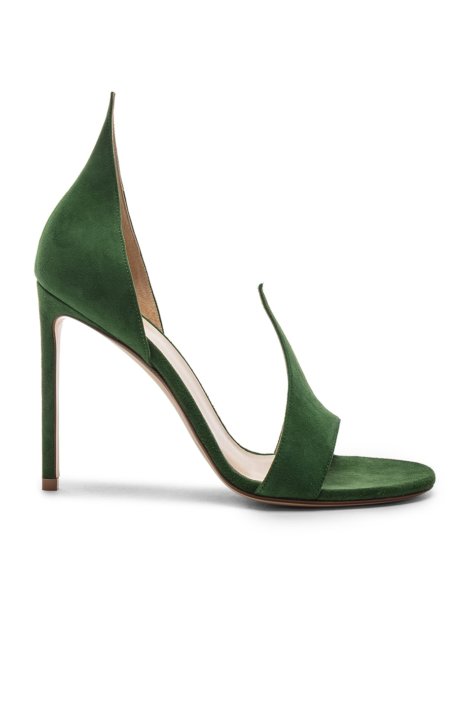 Image 1 of FRANCESCO RUSSO Flame Heels in Emerald Green