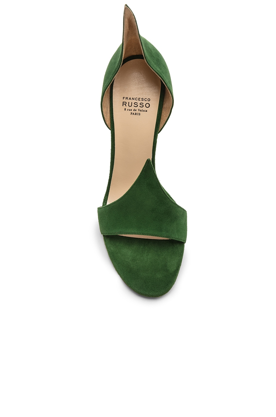 Image 4 of FRANCESCO RUSSO Flame Heels in Emerald Green