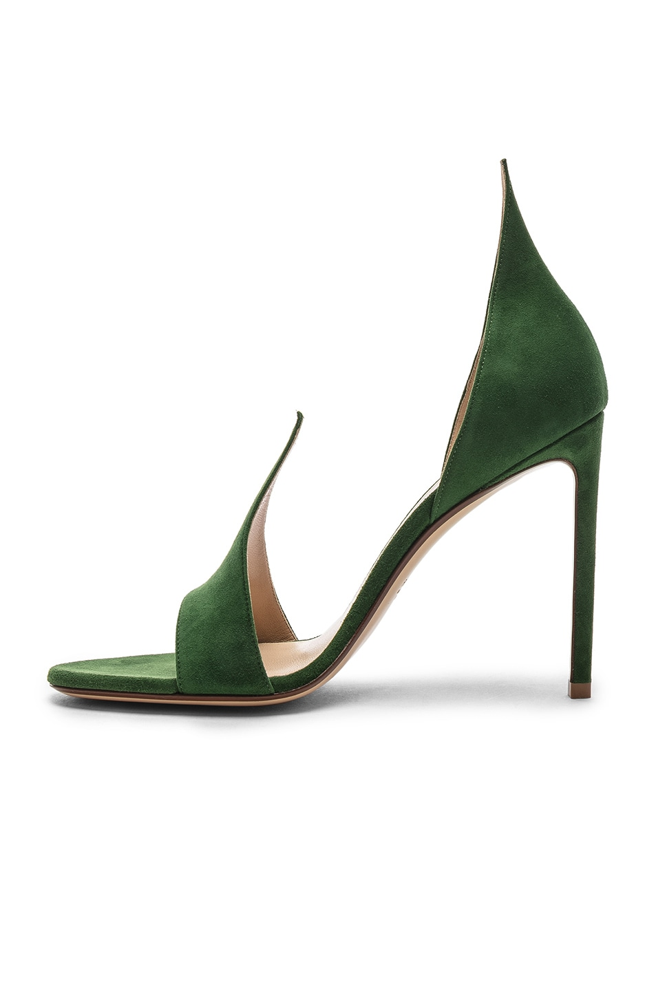 Image 5 of FRANCESCO RUSSO Flame Heels in Emerald Green