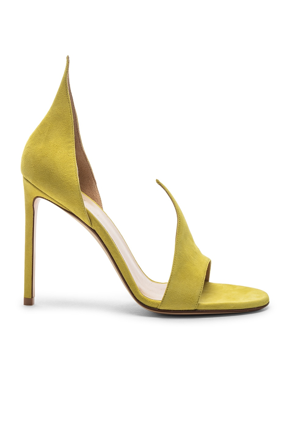 Image 1 of FRANCESCO RUSSO Flame Heels in Lime