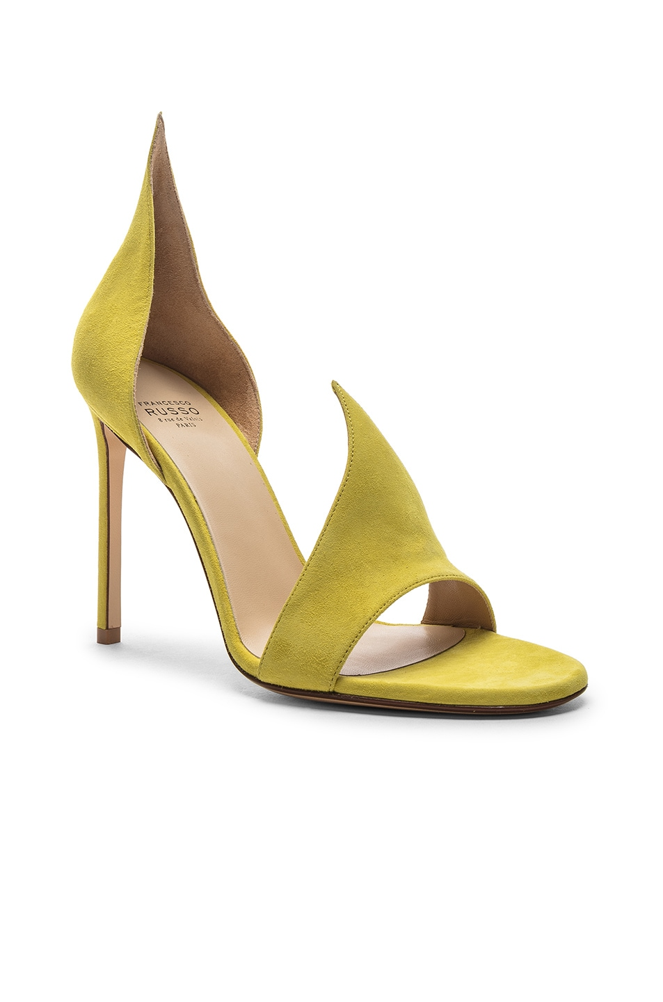 Image 2 of FRANCESCO RUSSO Flame Heels in Lime