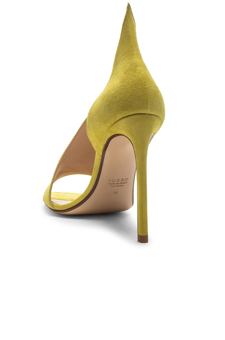 Image 3 of FRANCESCO RUSSO Flame Heels in Lime