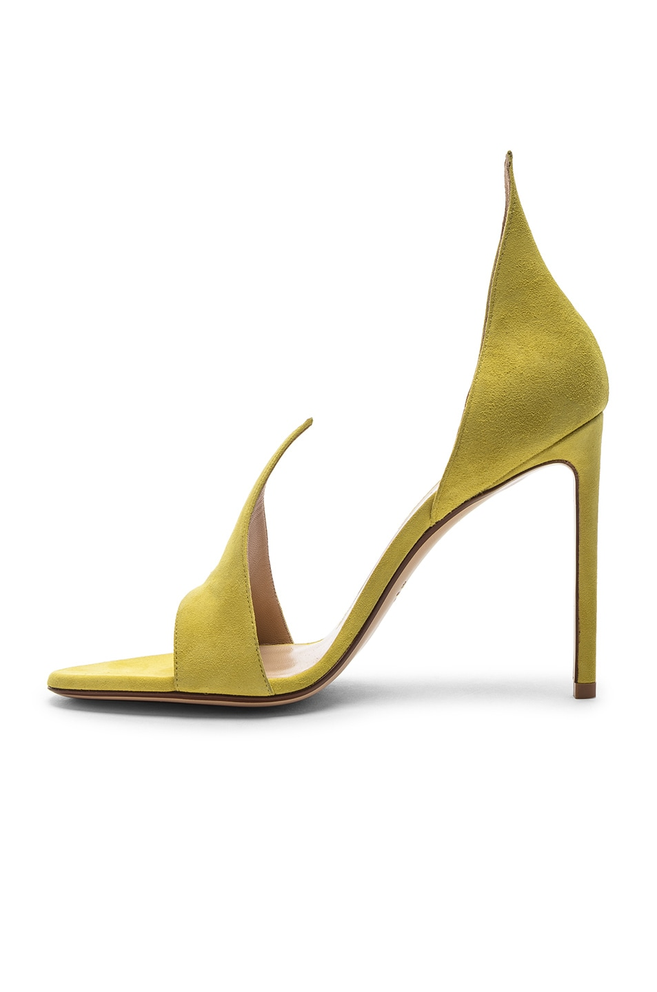 Image 5 of FRANCESCO RUSSO Flame Heels in Lime