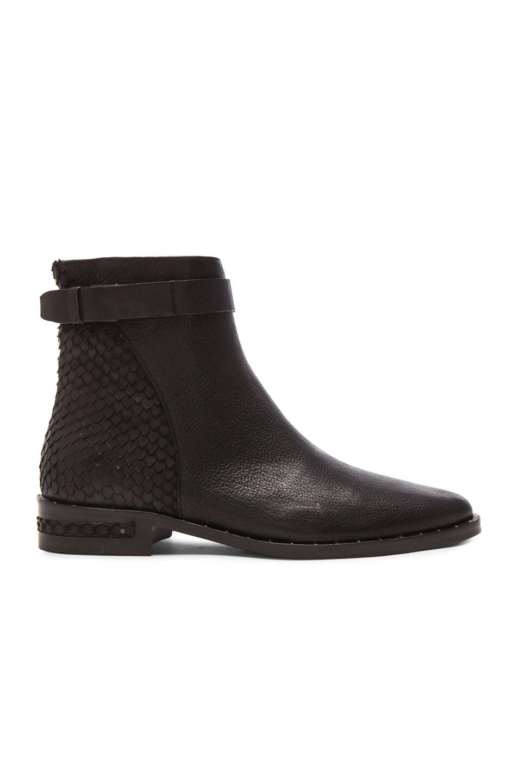 Image 1 of Freda Salvador Bolt Calfskin Leather Boots in Black Fish