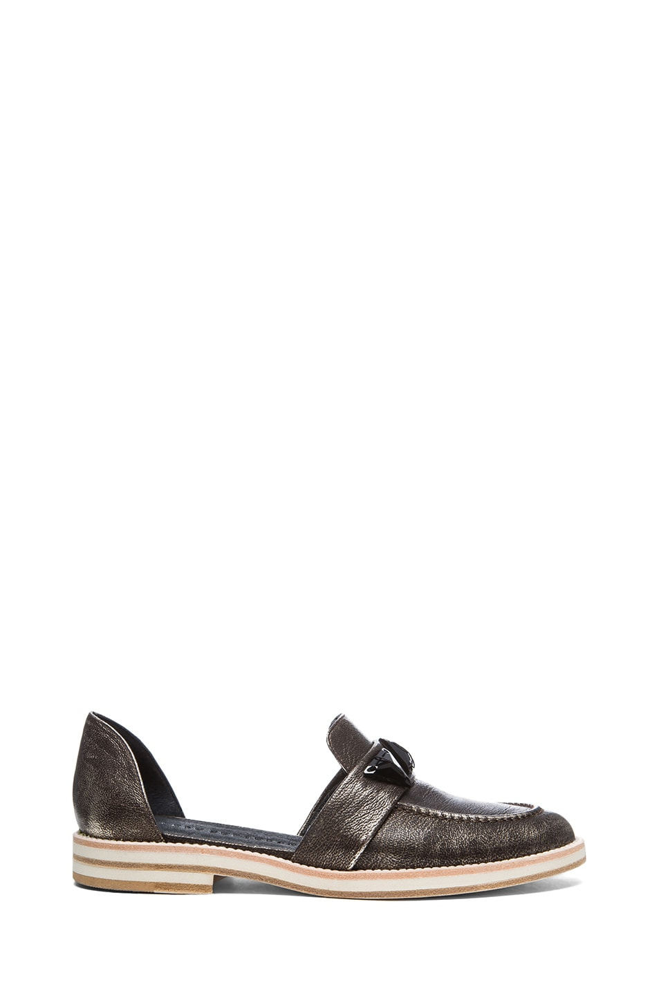 Image 1 of Freda Salvador See Metallic Leather Oxfords in Gold Metallic