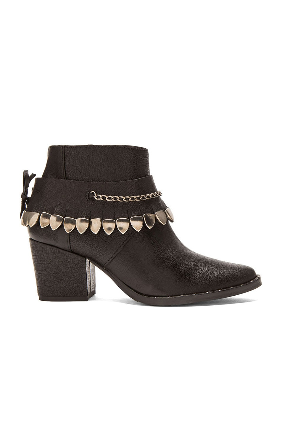 Image 1 of Freda Salvador Comet Leather Booties in Black Vachetta