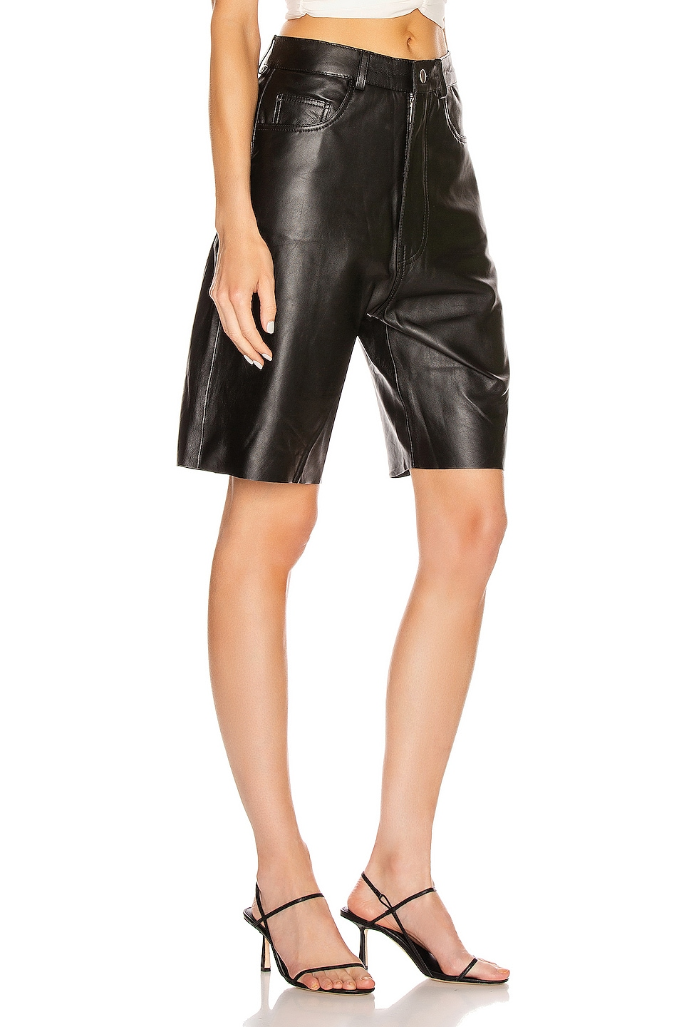 Image 2 of GEORGIA ALICE Margot Leather Short in Black