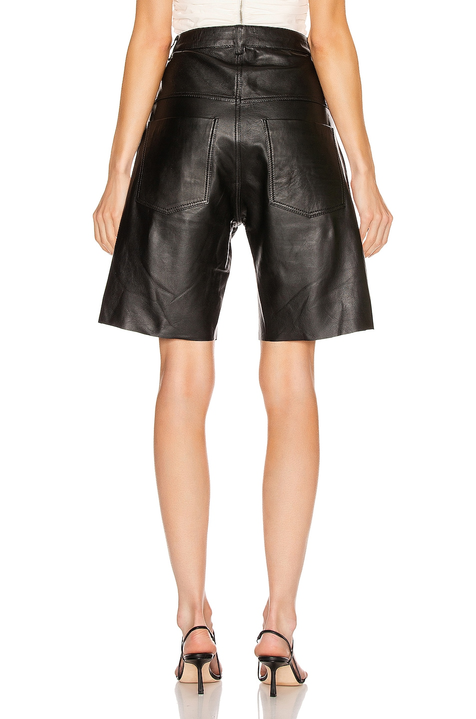 Image 3 of GEORGIA ALICE Margot Leather Short in Black