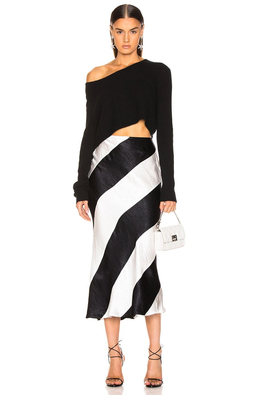 Image 4 of GEORGIA ALICE Delilah Skirt in Black & White