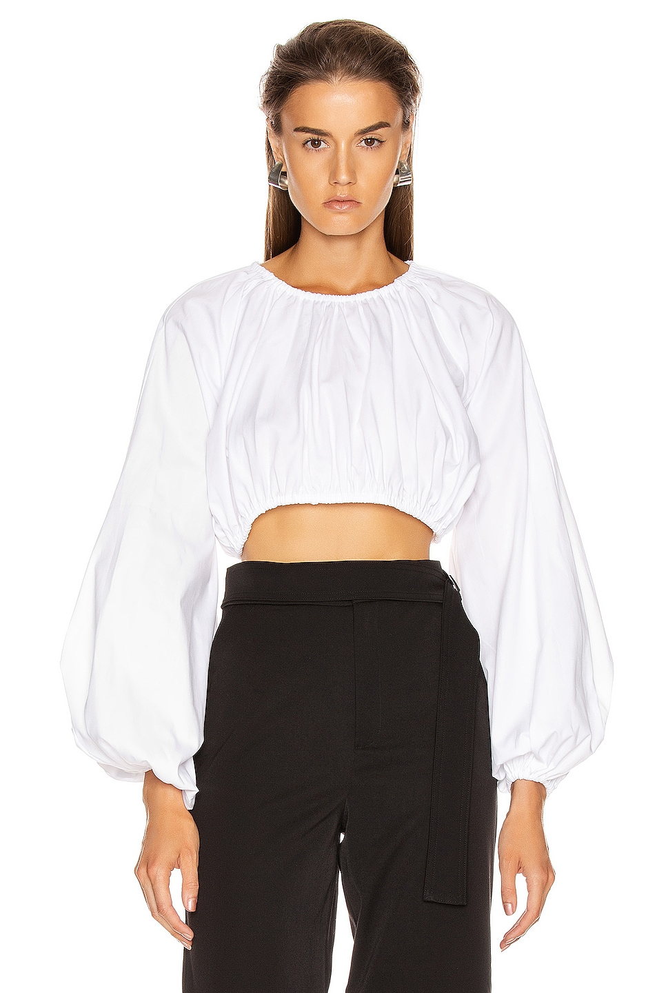 Image 1 of GEORGIA ALICE Milan Blouse in Oxford White