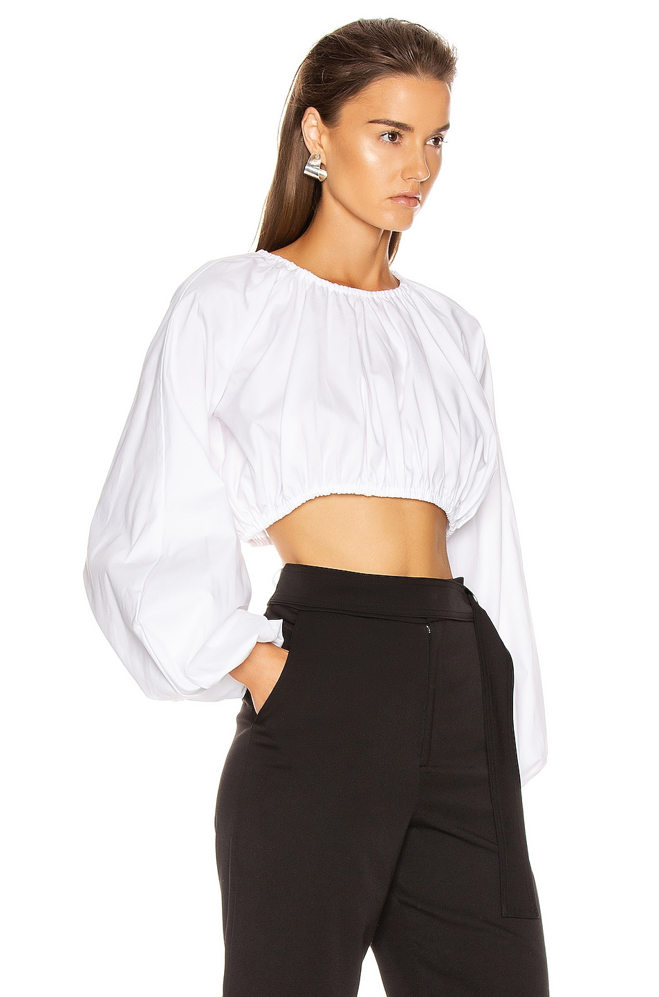 Image 2 of GEORGIA ALICE Milan Blouse in Oxford White