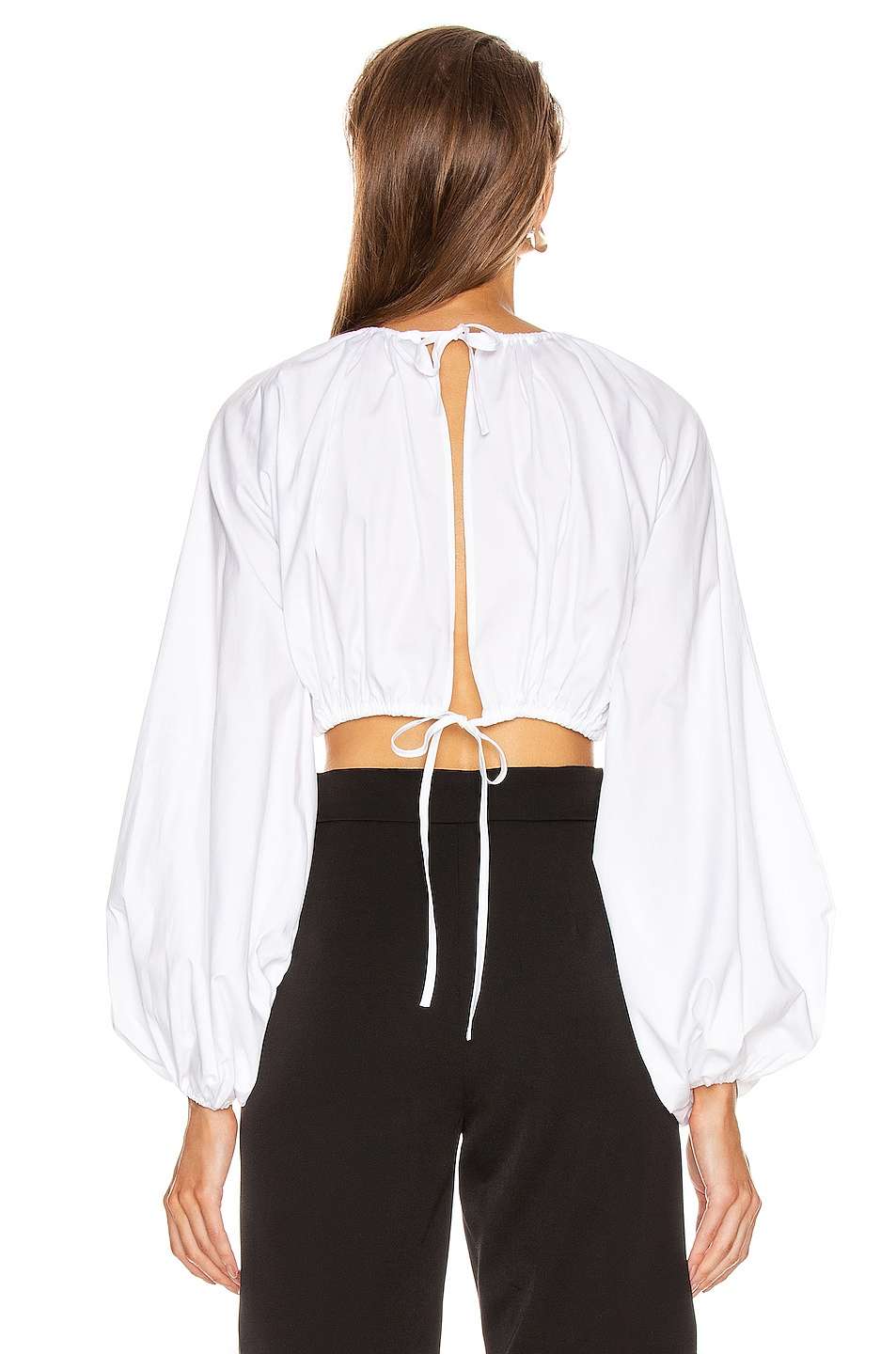 Image 3 of GEORGIA ALICE Milan Blouse in Oxford White