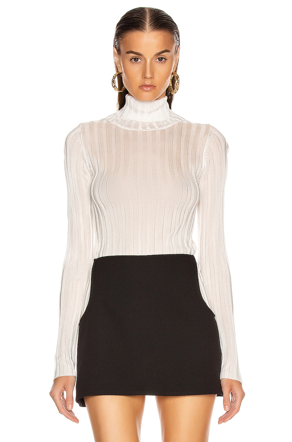 Image 2 of GEORGIA ALICE Lola Roll Knit Top in Ivory