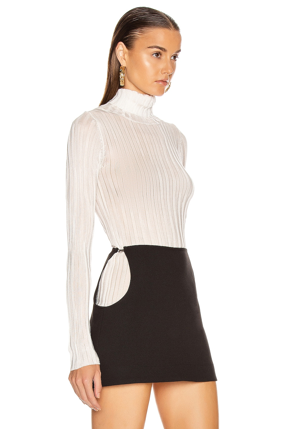 Image 3 of GEORGIA ALICE Lola Roll Knit Top in Ivory