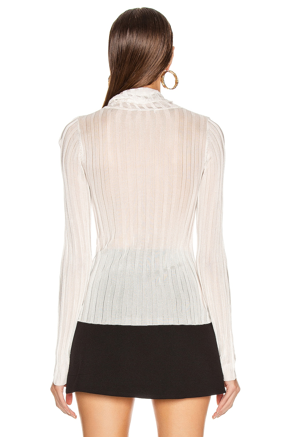 Image 4 of GEORGIA ALICE Lola Roll Knit Top in Ivory